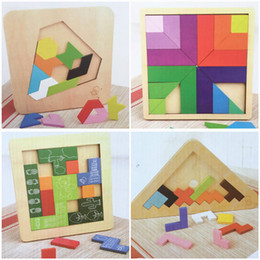 Discount tetris block - Baby Educational Toys Triangle Diamon Block Many Kinds of Play Geometric Assembling Blocks Tetris Slide Wooden Birthday