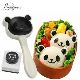 bento mold 2019 - LMETJMA Japanese Bento Panda Sushi Mold Kit with Seaweed Nori Punch Creative Sushi Maker Mold Kitchen Rice Set KC0819-4