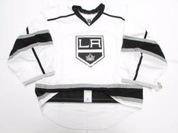 goalie jerseys NZ - Cheap Custom LOS ANGELES KINGS AUTHENTIC AWAY EDGE JERSEY GOALIE CUT 60 Mens Stitched Personalized hockey Jerseys