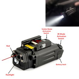 ir pointer 2019 - Tactical DBAL-PL type light white LED 400 Lumens Flashlight With Red Laser and IR LED illuminator visible laser pointer