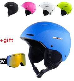snowboard protector NZ - OSHOW Ski Helmet With Goggles Women For Adult Half-Covered Snowboard Helmet Head Apine Skiing Saftly Head Protector