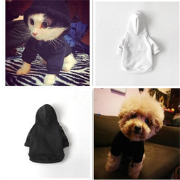 Large white dogs online shopping - Dog Cat Sweater Leisure Winter Outwear Teddy Puppy Autumn Apparel Cute Pet Clothes Black White Pullover Hooded Hoodies gl bb