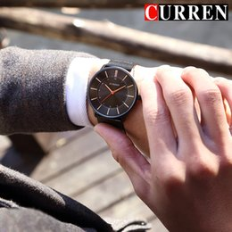 Men New Style Watches Australia - CURREN New Fashion Simple style Business Men Watches Ultra-thin Quartz Male Wristwatches Waterproof Clock Relogio Masculino