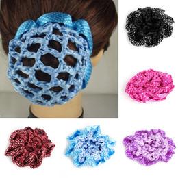 Crochet Snood Hair Net Australia - New Hair Accessories Women Bun Cover Snood Hair Net Ballet Dance Skating Crochet Decor Lovely Hairdressing Tool Hot