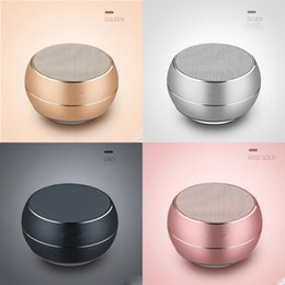 Wholesale Mini Wireless Speaker Bluetooth Portable Colorful Metal Subwoofer Support TF Card With Multifunction Wheel Retail Box MIS177