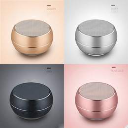 Player wheels online shopping - Mini Wireless Speaker Bluetooth Portable Colorful Metal Subwoofer Support TF Card With Multifunction Wheel Retail Box MIS177