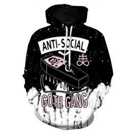 364f5493071c Newest Fashion Anti Social Club Skull Funny 3d Print Hoodies Fashion  Clothing Women Men Sweatshirt Hoodies Casual Pullovers K41