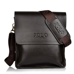 Polo Business NZ - Brand men's POL leather shoulder bags Solid Men Messenger Bag casual business Crossbody vintage Soft leather polo bag