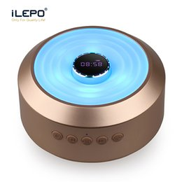 speakers change color NZ - S01 Clock LED Wireless Speaker With Six Color Change Subwoofer Support TF Card Aux Portable Stereo Sound Speaker Retail Box Better Charge 3