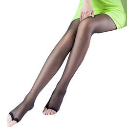 f01bec07c36 Women Brand Pantyhose Solid color Female Black Tights Open-toed Fish Mouth Seamless  Pantyhose Slim Sunscreen Stretchy Spandex Stocking