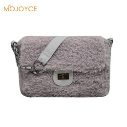 $enCountryForm.capitalKeyWord Canada - Luxury Winter Faux Fur Handbags for Women Sling Messenger Bag Female Fashion Warm Messenger Bags for winter Bolsos Feminina New