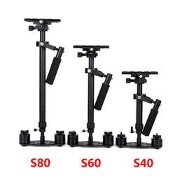 camera stabilizer steadycam 2019 - S40 S60 S80 Steadycam 40CM 60CM 80CM Aluminum Steadicam Handheld Stabilizer + Carrying Bag for DSLR Video Camera Photogr
