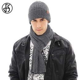 448dadab FS 2018 New Unisex Male Wool Knitting Beanie Cap Scarf Hat Glove Sets For Men  Women Lady Winter Warm Touch Screen Solid