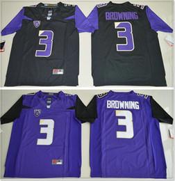 cb7b8973e Washington Huskies  3 Jake Browning Vintage Mens College American Football  Sports Pro Team Jerseys Cheap Stitched Embroidery On Sale
