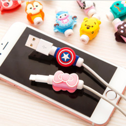 broken mobile phones 2019 - 1037 Creative mobile phone data cable protector Cartoon headset charging cable anti-break protector winder cheap broken