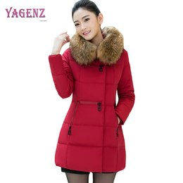 a181b24918c Winter Women Feather Cotton Coat High Quality Thicken Warm Ms Down Cotton  Outerwear Plus size Fur Collar Overcoat 5XL B51