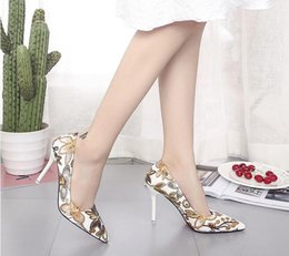 $enCountryForm.capitalKeyWord Canada - Woman Slip On Shoes Fashion Leaves Printing Ladies Sexy Stiletto Female Floral Thin Women High Heels Party Dress Pumps