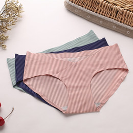 Natural Cotton Underwear Australia - Seamless Panties Cotton High Quality Brief For Pregnant Women Elastic Heathy Underwear Girls Natural Color panties
