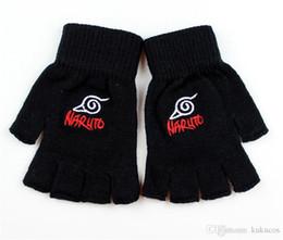 $enCountryForm.capitalKeyWord Canada - Kukucos Anime Naruto Wooden Leaf Flag Half-finger Gloves Winter Models Exposed Warm Cartoon Unisex Gloves