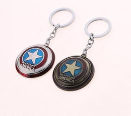 $enCountryForm.capitalKeyWord UK - Captain America Shield Keychain Key Holder Chaveiro The Avengers Superhero Key Chain Key Ring