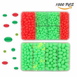 jigs lures for fishing Australia - wholesale 1000pcs box Hard Plastic Oval Shaped Fishing Beads Fish Round Beads Fishing Lures Biats Beads Fishing Tackle Tools Eggs for Salt