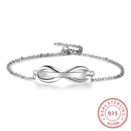 Discount infinity beads - JiShu Personalised Gifts ID Bangles For Infinity Love Engrave Name 925 Sterling Silver Bracelets & Bangles Fine S925 Jew
