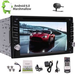 Gps Steering Australia - Backup Camera 6.2'' Android 6.0 Double DIN In Dash Headunit Autoradio Car dvd GPS Navigator 1080P Video Bluetooth Steering Wheel Control