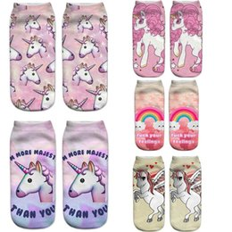 China 2018 HOT Harajuku 3D Print Unicorn Socks Women Kawaii Ankle Licorne Calcetines Femme New Mujer Cute Winter Emoji Funny Socks supplier kawaii slippers suppliers