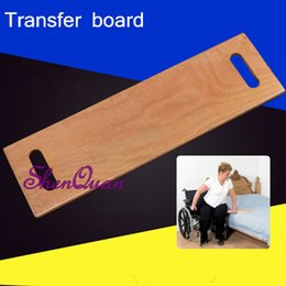 slide boards Canada - Resistance aldehyde wooden transfer slide board, wheelchair transfer board with two cut out handles,wheelchair transfer