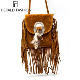 Women Pu Leather Bag Female Fashion Shoulder Bags Famous Brand Crossbody Bags  Fringe Tassel Women Messenger Bags herald fashion D18101005 f9961b423