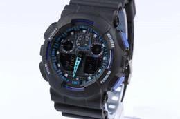 Venta al por mayor de g Militar Reloj deportivo Hombres ga100 Marca de fábrica de lujo famosa Reloj electrónico LED Digital Reloj masculino para hombre Europa occidental Correa de reloj