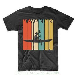 Großhandel Vintage Wholesale970 Stil Kayaking Kajak T-shirt Top Qualität Baumwolle Casual Männer T Shirts Männer Kostenloser Versand