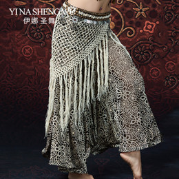 $enCountryForm.capitalKeyWord Australia - New Women Belly Dance Performance Long Fringe Tribal Hip Scarf Belly Dancing Beaded Coin Shell Belts Gypsy Costume Accessories
