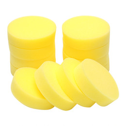 Glasses cleaninG pad online shopping - 12PCS Set Auto Care Polish Sponge Cleaning Tools Car Body Glass Wash Sponge Washer Applicator Pads Car Wax Foam Sponges Round