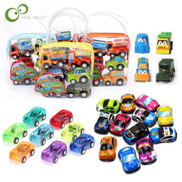 Chinese  6pcs Pull Back Car Toys Car Children Racing Baby Mini Cars Cartoon Pull Back Bus Truck Kids Toys For Children Boy Gifts GYH manufacturers