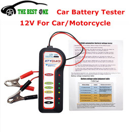 Discount auto voltage tester - 2017 Best Quality Car Battery Tester 12V 6 LED Digital Display Auto Voltage Tester Battery Analyzer For Car Motorcycle T