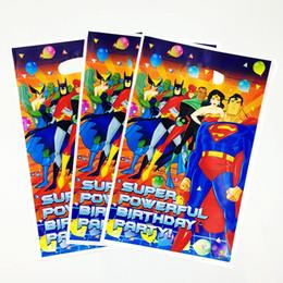 100pcs Lot Cool Superhero Theme Gift Bag Boy Kids Favor Cartoon Superman Birthday Party Baby Shower Storage Bags Decoration