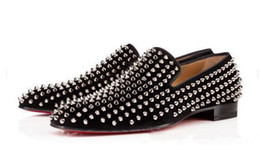 Discount designer oxford shoes - New mens spiked black suede dress shoes,designer brand business loafers wedding shoes,fashion men oxford Sneakers39-46 f