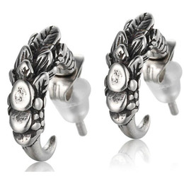 wholesale biker earrings NZ - Fashion Parts Earrings for Men Wholesale New Arrival Fashion Male 925 Sterling Silver Dragon Claw statement Mens Biker Rocker Earring