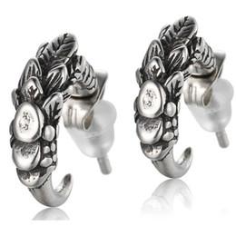 $enCountryForm.capitalKeyWord Australia - Stud Earrings for Men Wholesale New Arrival Fashion Male 925 Sterling Silver Dragon Claw statement Mens Biker Rocker Earring Jewelry