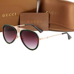 7e824da10d Alta calidad gafas de sol de piloto clásico diseñador de la marca para  mujer para mujer Gafas de sol Gafas Oro Metal Verde 55mm 60mm Lentes de  vidrio Caja ...