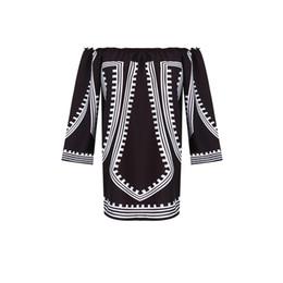Off shOulder asymmetrical evening dress online shopping - Fashion Casual Summer Evening Party New Long Sleeve Off Shoulder Slash Neck Straight Pattern Patchwork Black Mini Dress S M L