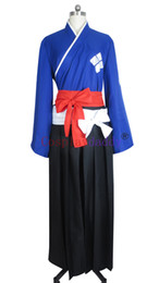 Wholesale samurai costumes online – ideas Samurai Champloo Jin Cosplay Costume Kimono