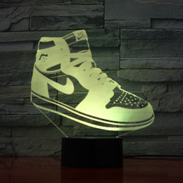 Ce Shoes Australia - Skateboard Shoes Lamp 3D Optial LED Lamp Night Lamp AA Battery USB Powered 7 RGB Light DC 5V Wholesale Free Shipping