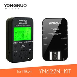 $enCountryForm.capitalKeyWord NZ - wholesale YN-622N-KIT or YN-622N-TX Wireless Trigger Transmitter Receiver i-TTL Flash Controller HSS 1 8000s for Nikon DSLR