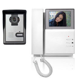 "venda por atacado 4.3 ""Telefone Telefone Video Da Porta Do Monitor Campainha Sistema de Vídeo Porteiro IR Night Vision Camera Door Campainha Vídeo Porteiro kit"