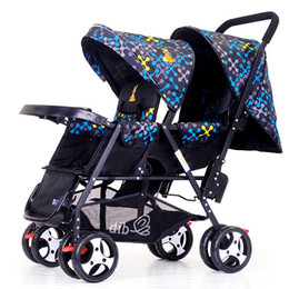 China Postage twin stroller back and forth sit light can sit double size baby stroller second baby cheap stroller twins suppliers