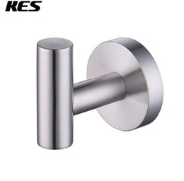 China KES A2164 -2 -BK Bathroom Lavatory Wall Mount Single Coat and Robe Hook, Polished   Brushed   Black SUS304 Stainless Steel cheap coat robe hooks suppliers