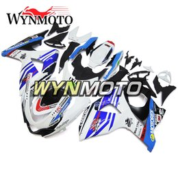 $enCountryForm.capitalKeyWord Australia - White Blue Full Fairings For Suzuki GSXR1000 K9 Year 2009-2016 09 10 11 12 13 14 15 16 Injection ABS Plastic Motorcycle Frames