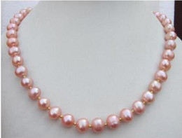 "$enCountryForm.capitalKeyWord Australia - Wholesale - HOT 18"" 9-10MM REAL SOUTH SEA PINK PEARL NECKLACE 14k Gifts for ladies"